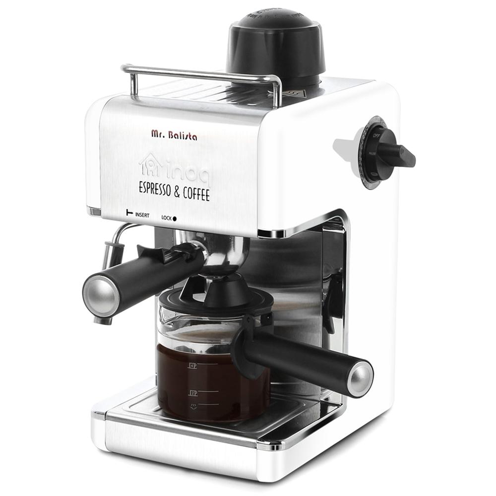 이노크아든 에스프레소 커피 머신, IA-CE1000W(화이트 + 실버)