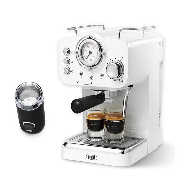 플랜잇 커피머신 홈카페 에디션 + 커피그라인더, PCM-F15W(크림화이트)