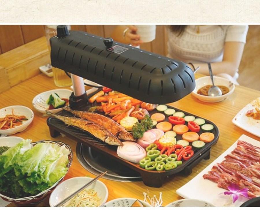 전기 고기 삼겹살굽는기계 멀티쿠커 연기안나는전기그릴 불판 가정용, 단일상품