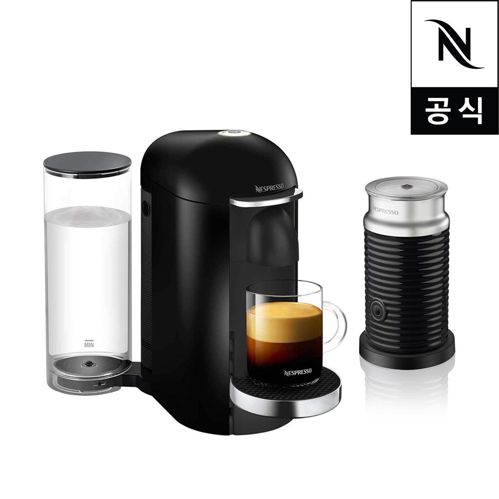 네스프레소 버츄오 플러스 GCB2 에스프레소 캡슐커피머신 블랙 + 에어로치노, 단품