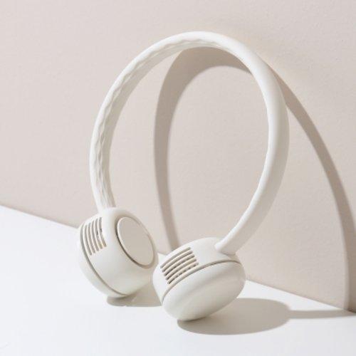 [텐바이텐] 단순생활 넥밴드 휴대용 선풍기, 옵션선택, 01 크림화이트
