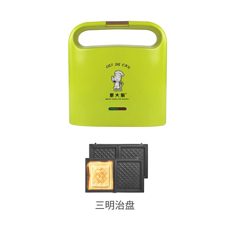 샌드위치메이커 샌드위치 메이커 홈 라이트 식품 기계 다기능 아침 식사 기계 샌드위치 기계 더블 트레이, 11 81 개의 녹색 분리 및 세척 가능 샌드위치 플레이트