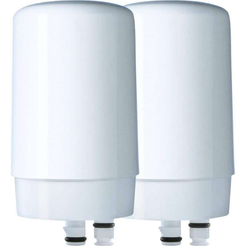 브리타 정수기 브리타 36311 수도꼭지 물 교환 필터 기본 2ct 흰색 - 수도꼭지 마운트 물 필터, 단일옵션
