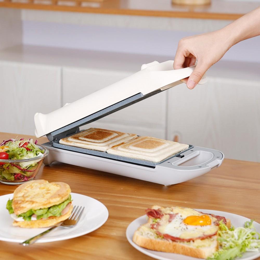 Pinlo 샌드위치메이커 대용량 조식메이커 다기능 푸드메이커, 하얀