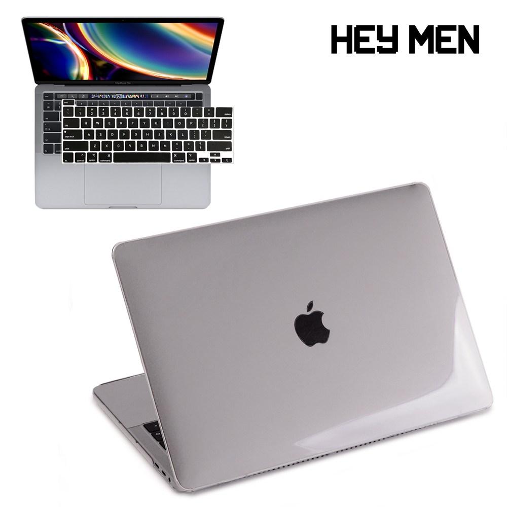 헤이맨 맥북프로 13인치 2020 A2251 A2289 투명 하드 케이스 + 키보드 스킨, 투명 케이스 + 블랙 키스킨